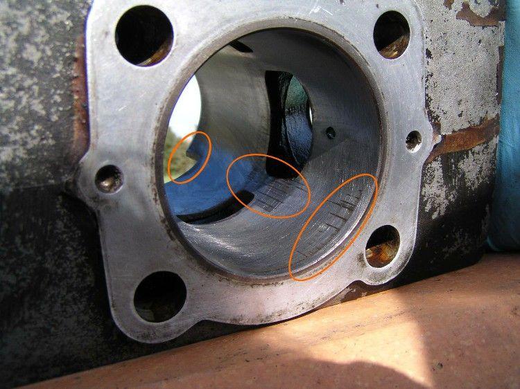 Cylindre déglacé trop usé