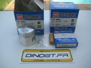 2 kits pistons TKRJ pour Honda 125 twin rebel