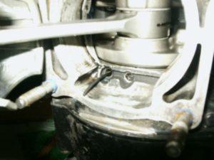 Torique de vilebrequin Hot Rod qui sort par le trou de graissage